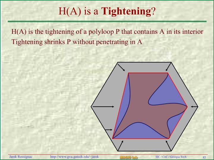 H(A) is a