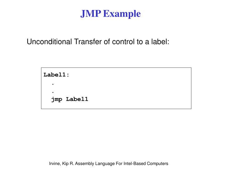 JMP Example