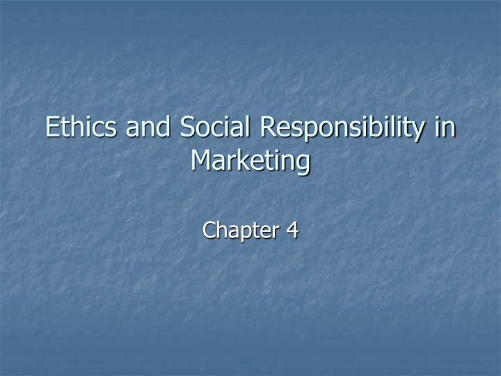 ethics and social responsibility in marketing n.