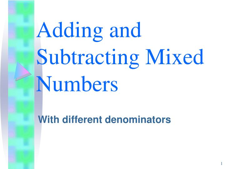 adding and subtracting mixed numbers n.