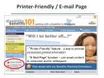 printer friendly e mail page
