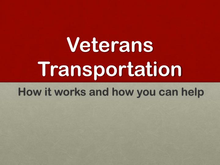 veterans transportation n.