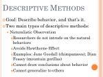 descriptive methods