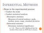 inferential methods13