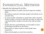 inferential methods8