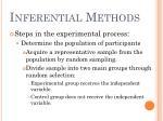 inferential methods9