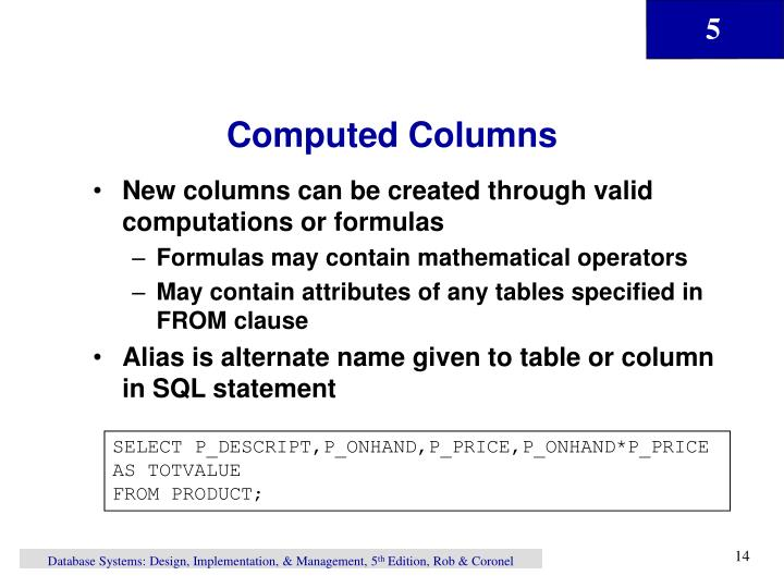 Computed Columns
