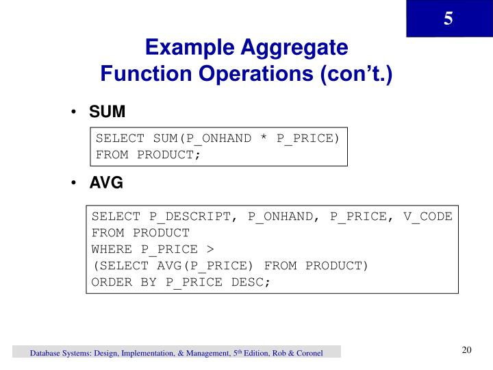 Example Aggregate