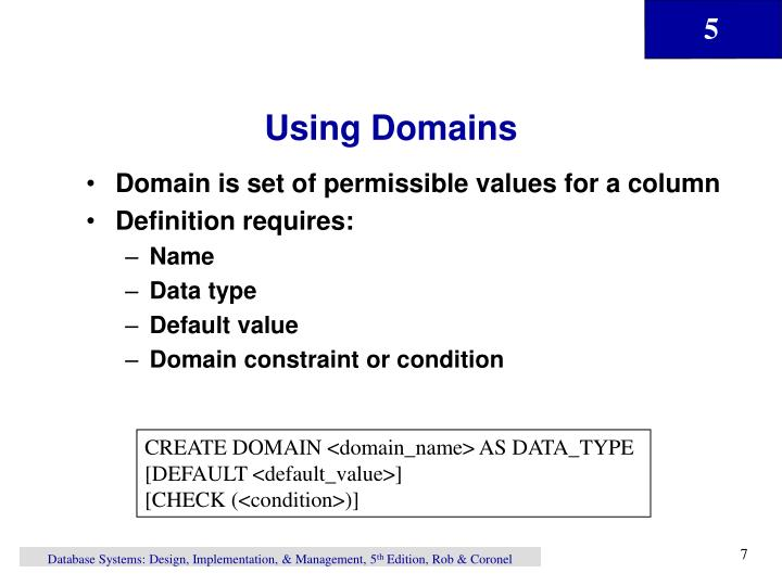 Using Domains