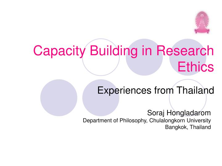 capacity building in research ethics n.