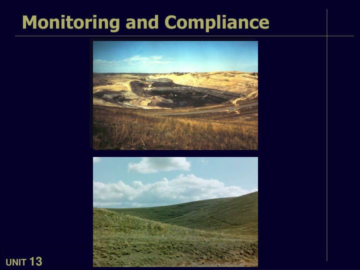 monitoring and compliance n.