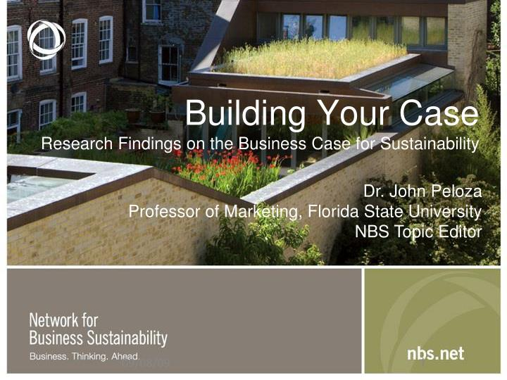 building your case research findings on the business case for sustainability n.