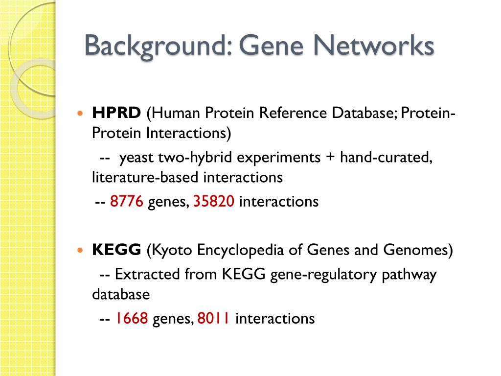 PPT - Network-based Analysis of Genome-wide Association