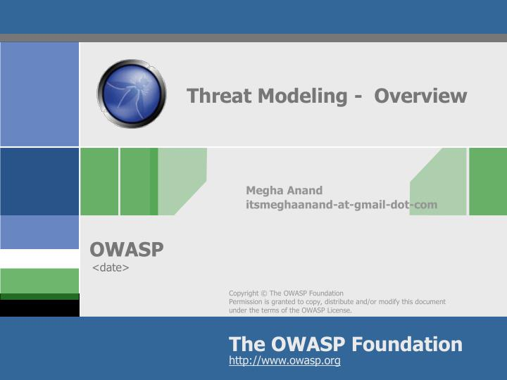 threat modeling overview