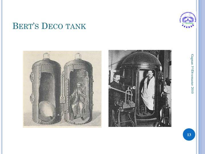 Bert's Deco tank