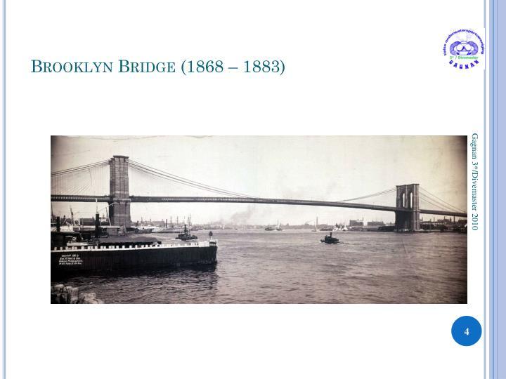 Brooklyn Bridge (1868 – 1883)