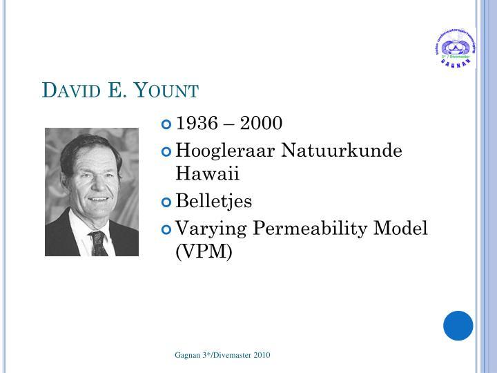 David E. Yount