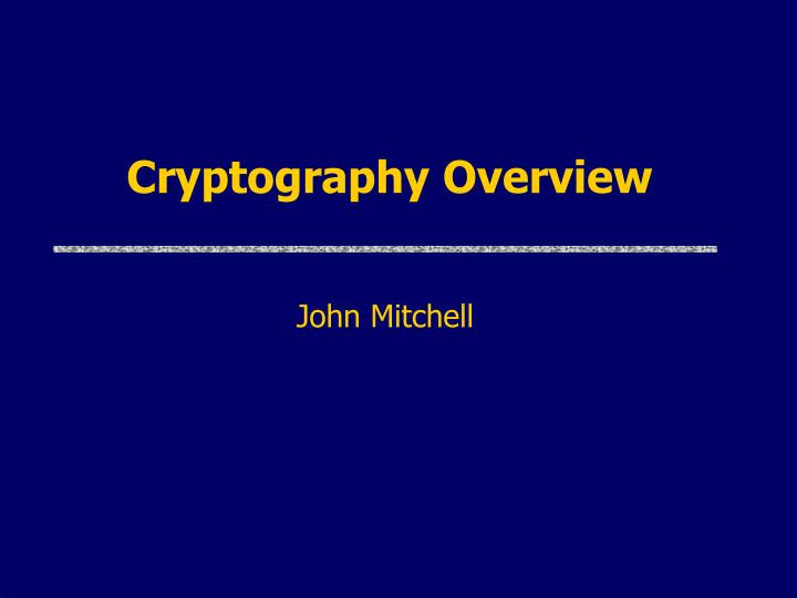 cryptography overview n.