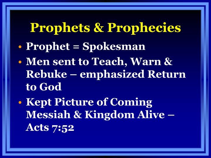 Prophets prophecies