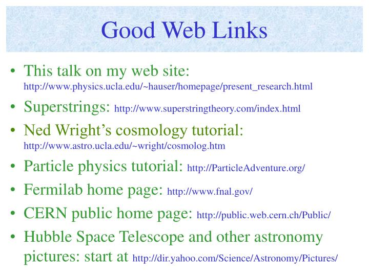 Good Web Links