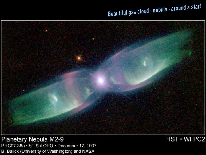 Beautiful gas cloud - nebula - around a star!