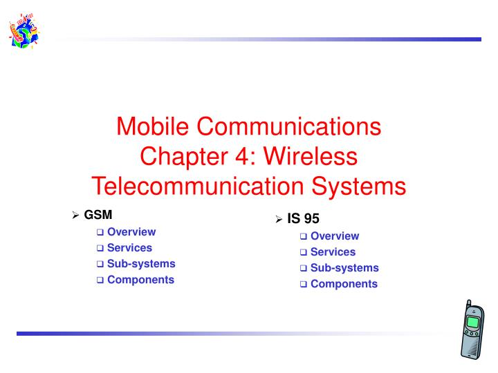 mobile communications chapter 4 wireless telecommunication systems n.