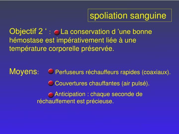 spoliation sanguine