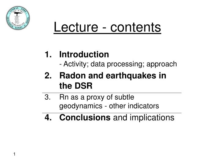 lecture contents n.