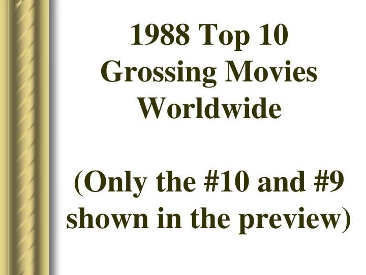 1988 top 10 grossing movies worldwide only the 10 and 9 shown in the preview n.