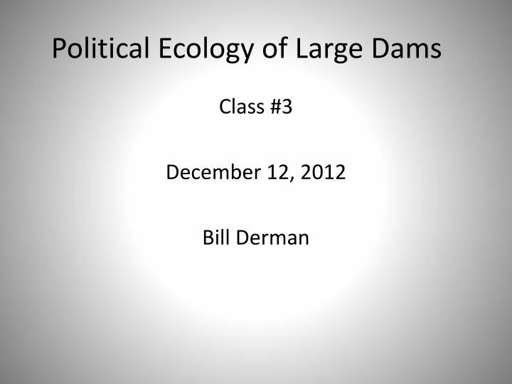 political ecology of large dams n.