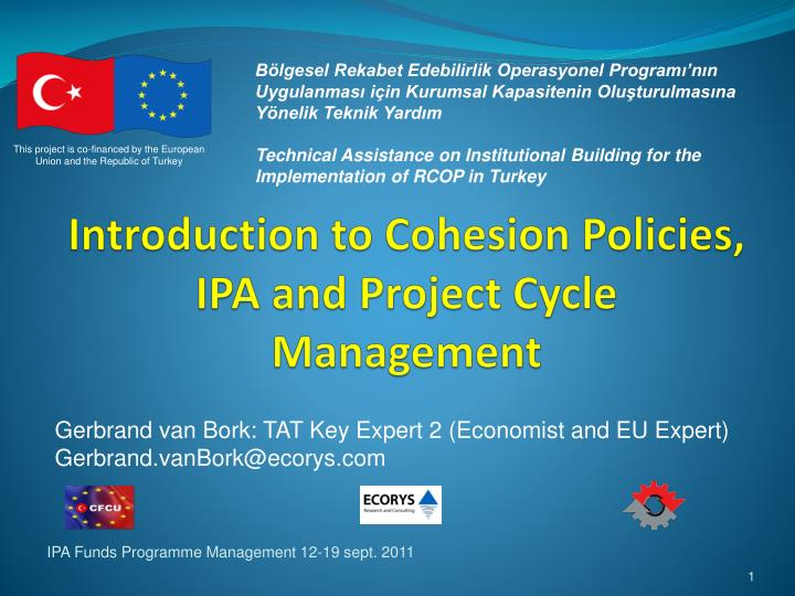 introduction to cohesion policies ipa and project cycle management n.