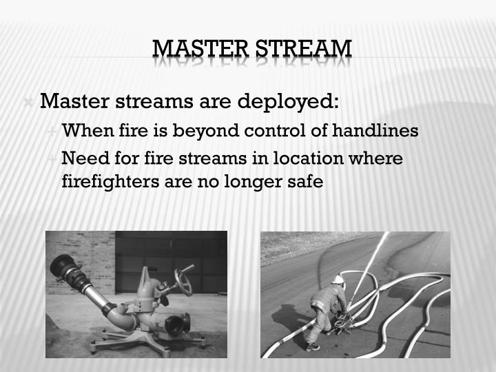 Master streams are deployed: