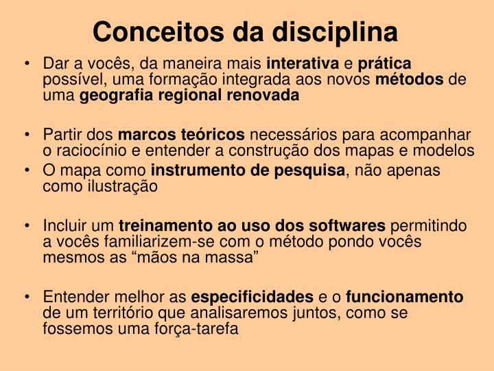 Conceitos da disciplina