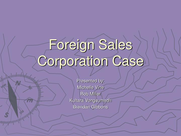 foreign sales corporation case n.