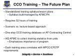 cco training the future plan