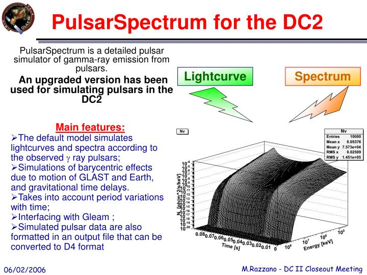 Pulsarspectrum for the dc2