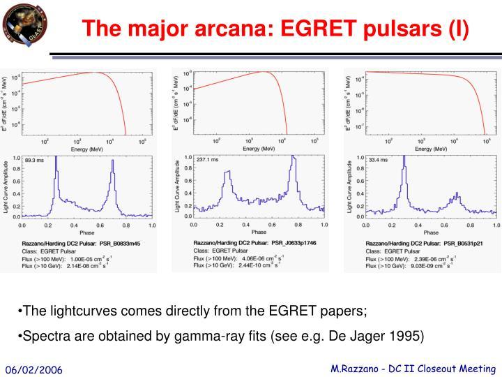 The major arcana: EGRET pulsars (I)