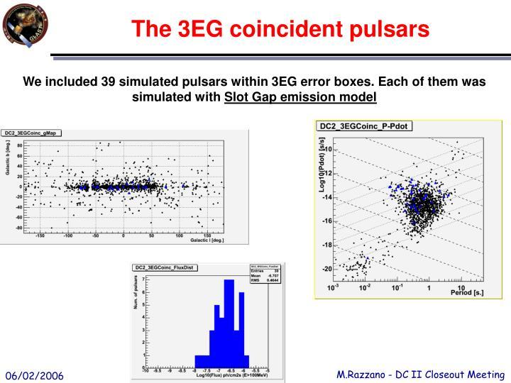 The 3EG coincident pulsars