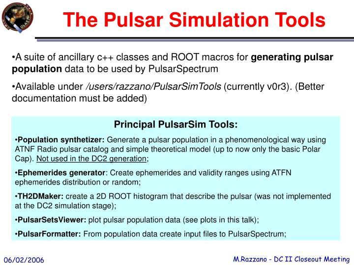 The Pulsar Simulation Tools