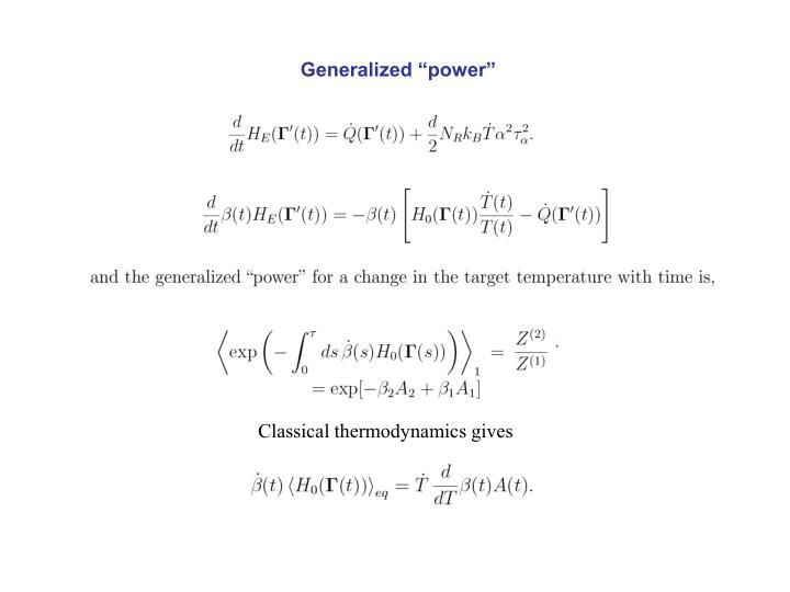 "Generalized ""power"""