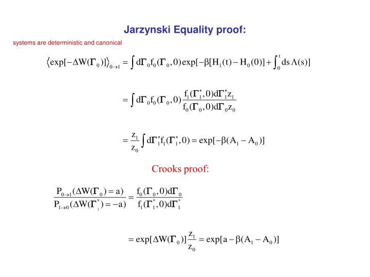 Jarzynski equality proof