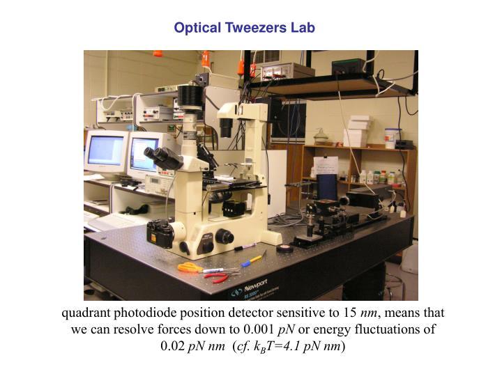 Optical Tweezers Lab