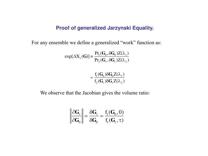 Proof of generalized Jarzynski Equality.