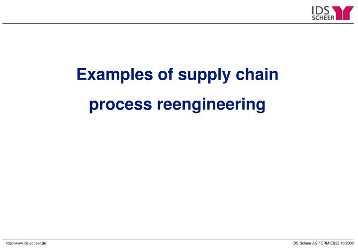 Examples of supply chain