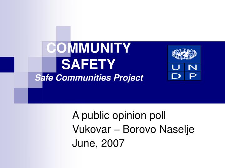 community safety safe communities project n.