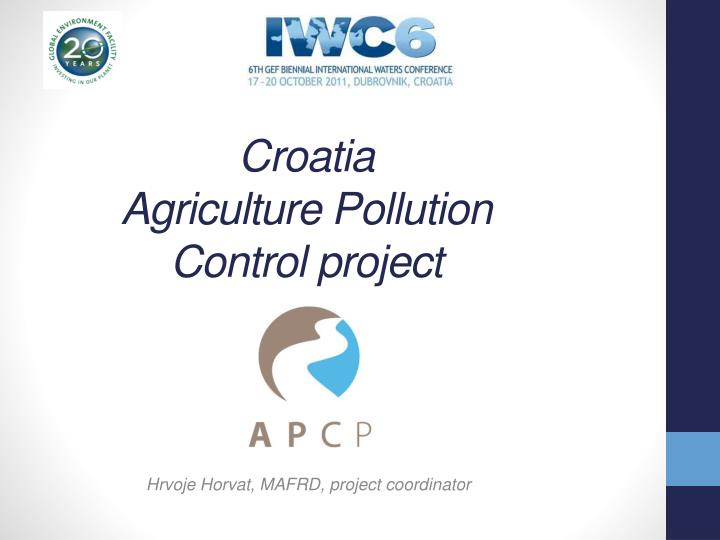 croatia agriculture p ollution c ontrol project n.