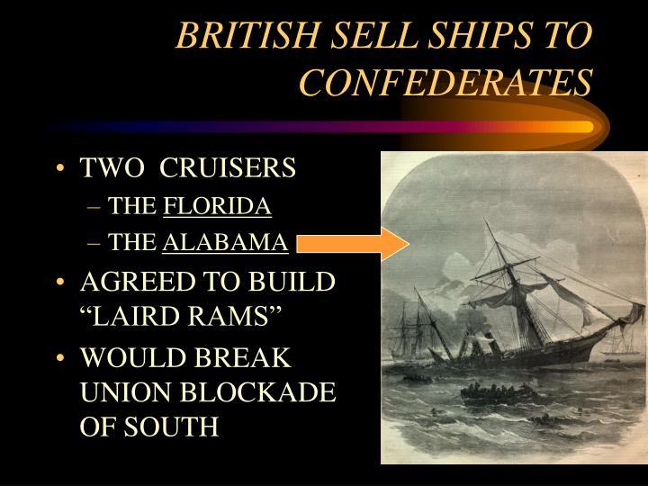 BRITISH SELL SHIPS TO CONFEDERATES