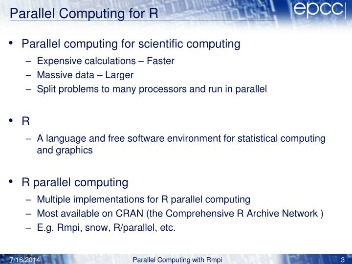 Parallel computing for r