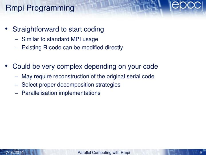 Rmpi Programming