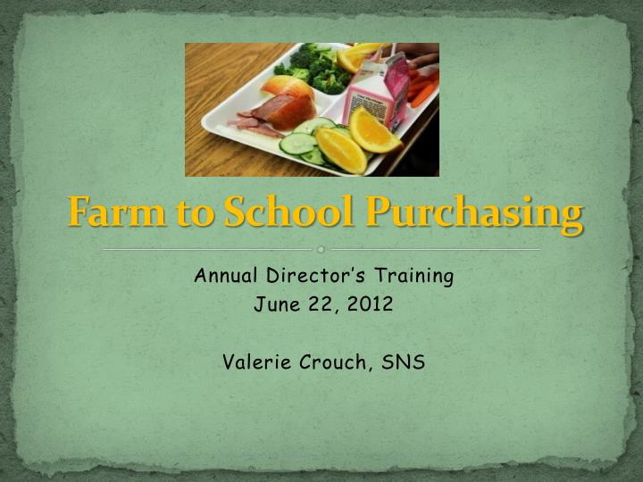 farm to school purchasing n.